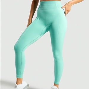 Gymshark Ultra Seamless Leggings, Large - Green